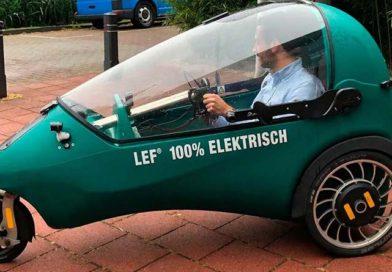 LEF: híbrido holandés entre una bicicleta y un coche eléctrico